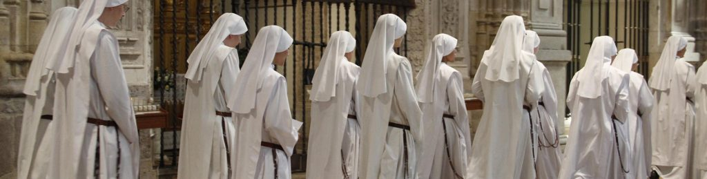 Religious Sisters Walking in a line